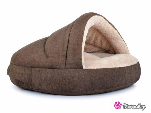 Hondenmand Snuggle Cave Bruin Caramel-0