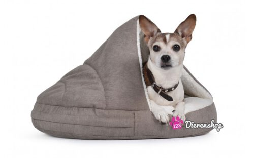 Hondenmand Snuggle Cave Deluxe Taupe-0