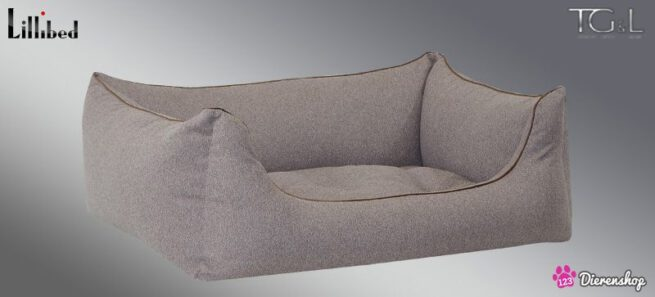 Hondenmand Lillibed® Flanell Greige-0