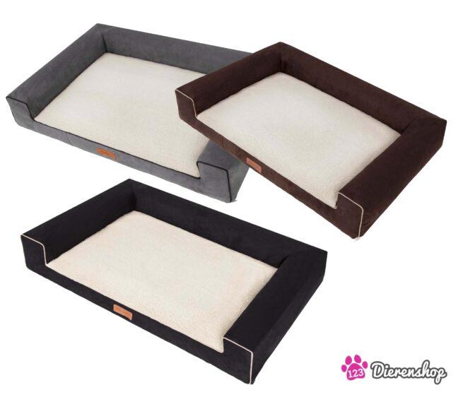 Hondenmand Lounge bed Suedine Deluxe Grijs 100 cm-18543