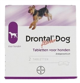 Bayer Drontal Tasty ontworming hond 2 tabletten-0