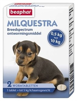 Beaphar Milquestra kleine hond & pup 2 tabletten-0