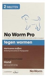 Exil No Worm Pro Puppy 2 tabletten-0