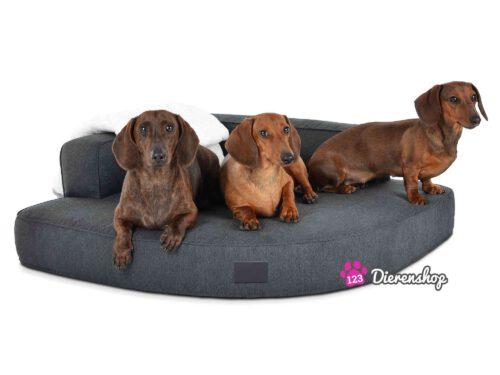 Hondenmand Hoekmodel Luxery Antraciet-0