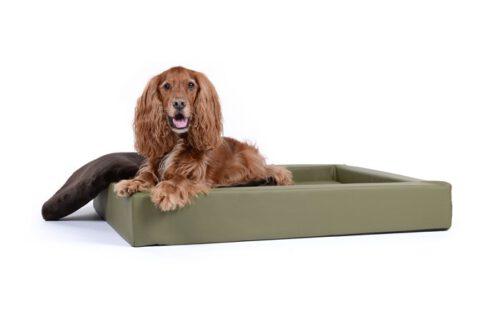 Hondenmand Ligbed Deluxe Kaki-0