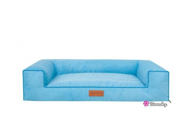 hondenmand lounge bed suedine blauw