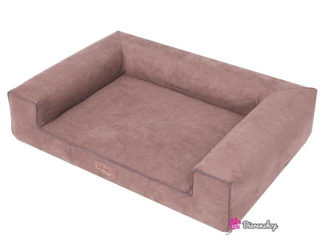 Hondenmand Lounge bed Suedine Lichtbruin 100 cm-19616