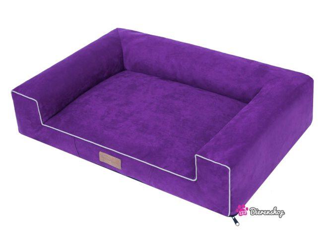 Hondenmand Lounge Bed Suedine Paars 80 cm-19608
