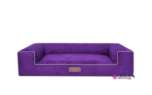 Hondenmand Lounge Bed Suedine Paars 100 cm-0