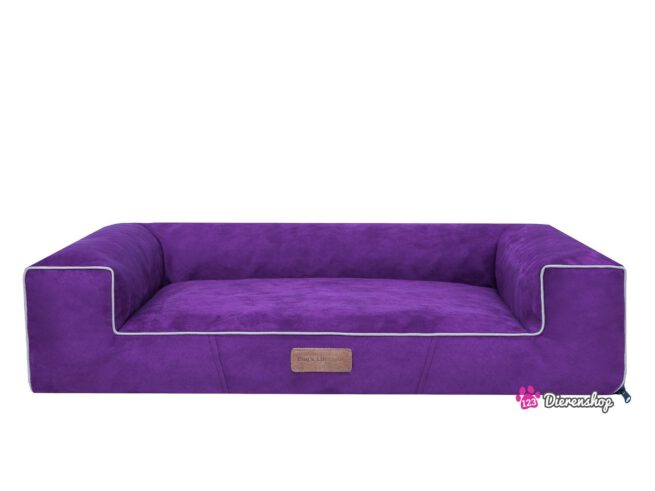Hondenmand Lounge Bed Suedine Paars 80 cm-0