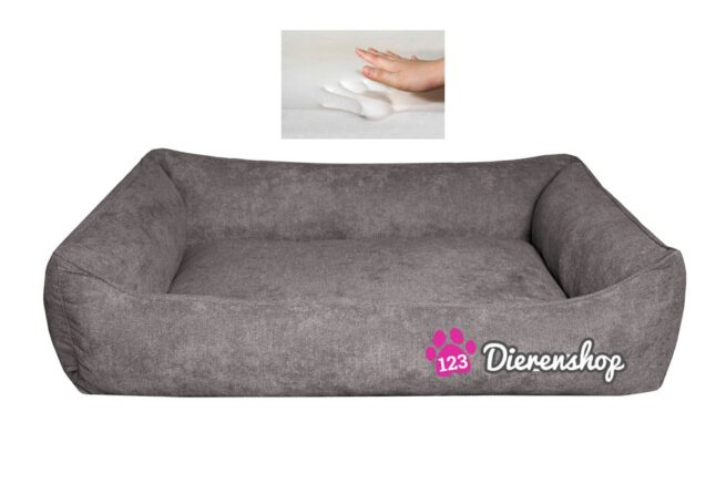 Orthopedische hondenmand supersoft Taupe 130 cm-0