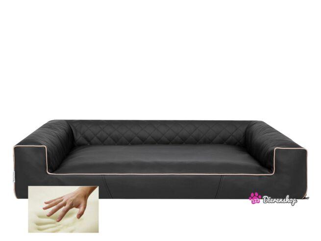 Orthopedische hondenmand Lounge Bed Indira Zwart 80 cm-0