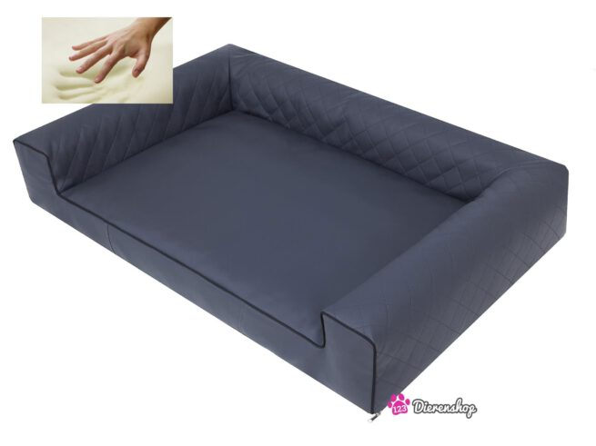 Orthopedische hondenmand Lounge Bed Indira Antraciet 100 cm-19682