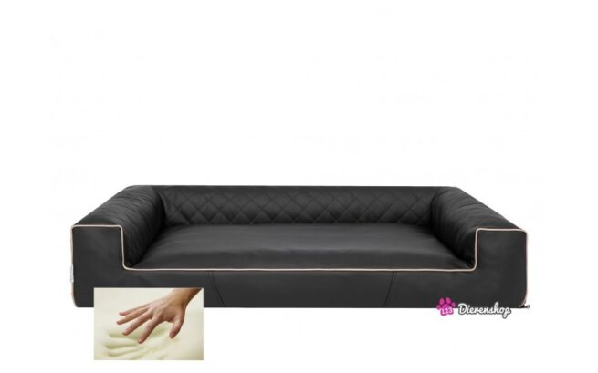 Orthopedische hondenmand Lounge Bed Indira Zwart 120 cm-0