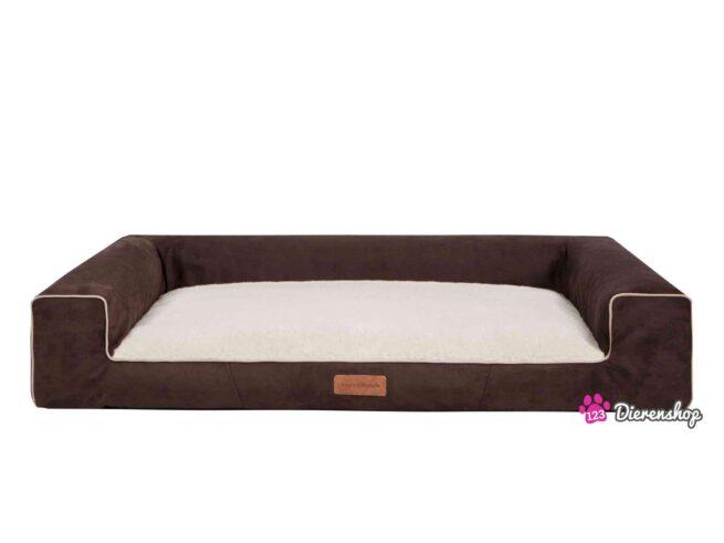Hondenmand Lounge bed Suedine Deluxe Bruin 120 cm-0