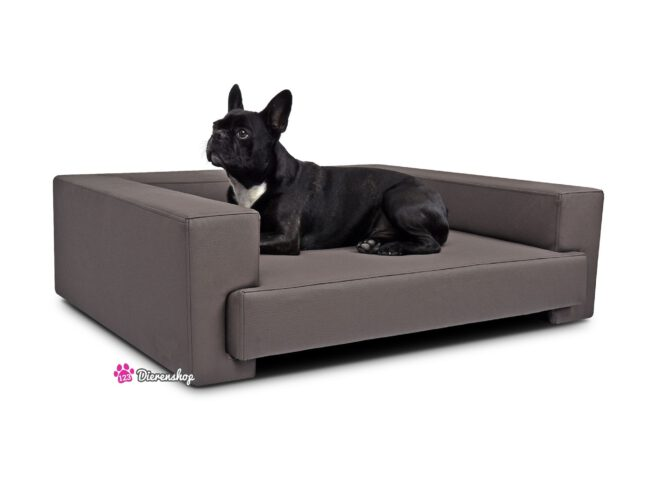 Hondenbank Deluxe Taupe 90cm-0