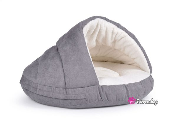 Hondenmand Snuggle Cave Deluxe Zilver 75 cm-0