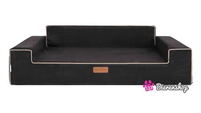 Hondensofa Elegance Suedine Zwart 120cm-0