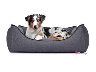 Hondenmand Luxery Donkergrijs 90cm-0