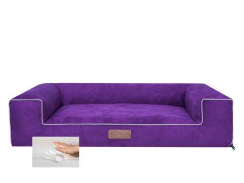 Orthopedische Hondenmand Lounge Bed suedine paars 80cm -0