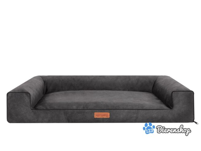 Hondenmand Lounge Bed Indira Misty Antraciet-0