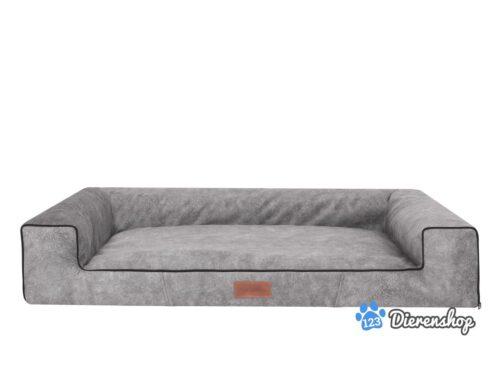 Hondenmand Lounge Bed Indira Misty Grijs-0