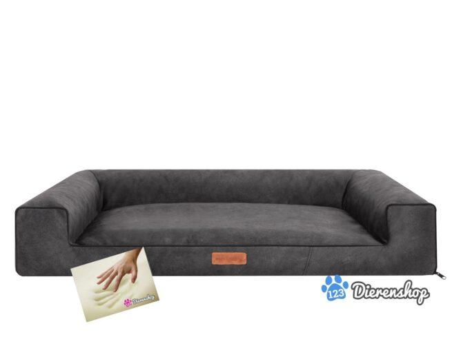 Orthopedische hondenmand lounge bed indira misty antraciet 120cm-0