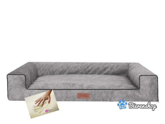 Orthopedische hondenmand lounge bed indira misty grijs 100cm-0