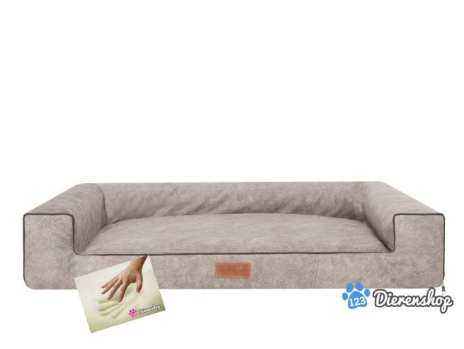 Orthopedische hondenmand lounge bed indira misty Taupe 80cm-0